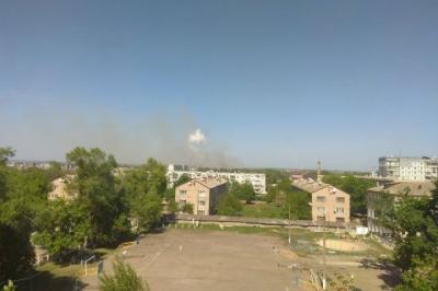 На складі боєприпасів у Балаклії знову виникла пожежа