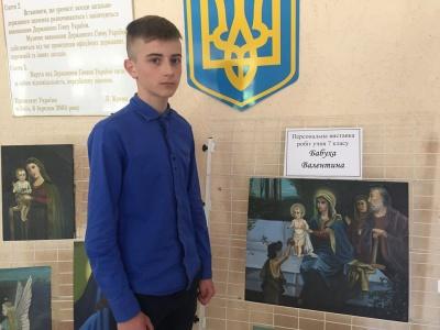 У Чернівцях 12-річний школяр відкрив власну виставку ікон