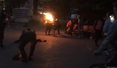 У Луцьку чоловік підпалив себе під час концерту