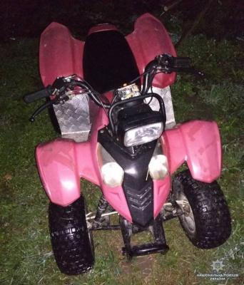 На Буковині поліція затримала чоловіка, який викрав квадроцикл
