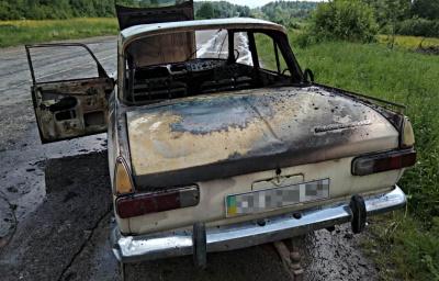 Під час руху загорівся автомобіль