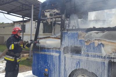 У Чернівецькій області через «зварку» горіли два автобуси
