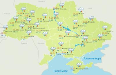 Тепло  і короткочасні дощі: погода  на 18 травня