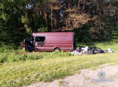 На Львівщині зіткнулися мікроавтобус та вантажівка. Загинули 6 осіб