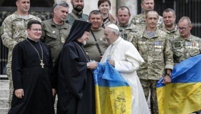 Папа Франциск поспілкувався з українськими військовими паломниками