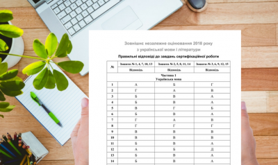 УЦОЯО оприлюднив правильні відповіді на ЗНО з української мови та літератури