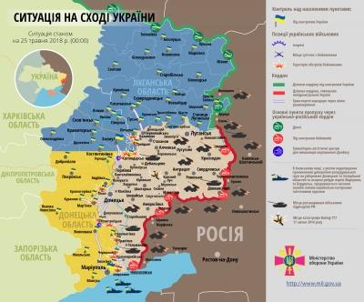 Минулої доби бойовики здійснили 36 обстрілів позицій ЗСУ