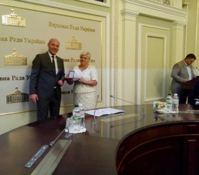 Чернівецька освітянка отримала нагороду від Парубія