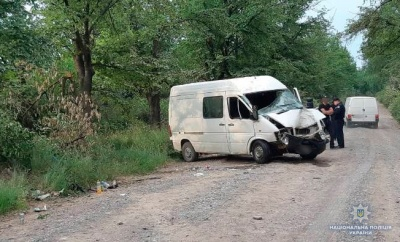 На Буковині авто врізалось у дерево: водія й пасажирку госпіталізували