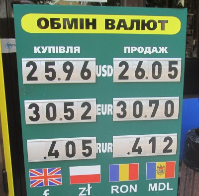 Курс валют у Чернівцях на 13 червня