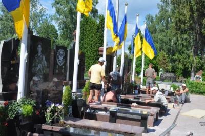 У неділю на Алеї слави в Чернівцях відбудеться панахида за загиблими на фронті бійцями