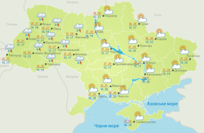 Дощ і гроза: погода на Буковині 18 червня