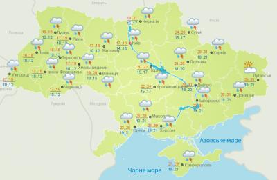 Дощ і гроза: погода на Буковині 23 червня