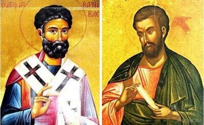 24 червня за церковним календарем - апостолів Варфоломія і Варнави