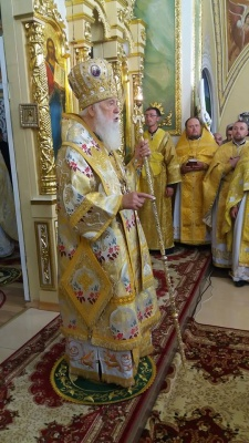Патріарх Філарет освятив престол у церкві Мамаївців - фото