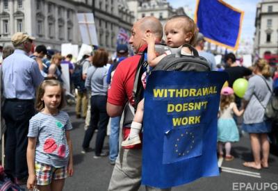 У Лондоні на акцію проти Brexit вийшли 100 тисяч прихильників Євросоюзу