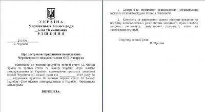 Продан вдруге зареєстрував проект рішення про відставку Каспрука