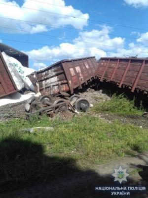 На Одещині зійшов з рейок вантажний потяг