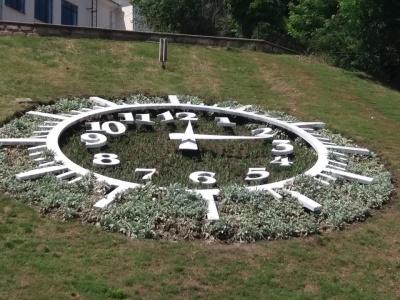 У центрі Чернівців запрацював багатостраждальний квітковий годинник