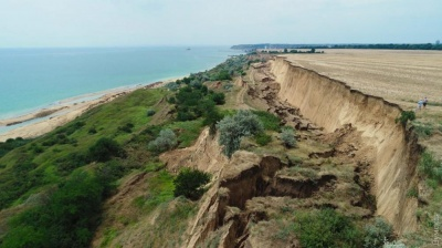 На Одещині сталися два масштабні зсуви в прибережній зоні