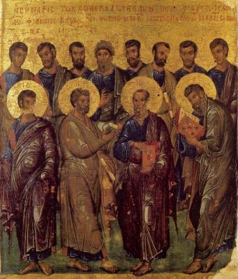 13 липня  за церковним календарем - Собор 12 апостолів