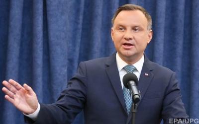 Дуда заявив, що чекає від України історичної правди