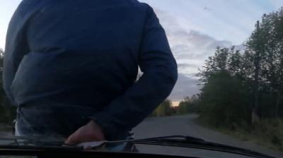 Збив і возив на капоті: водій вантажівки на Буковині наїхав на інспектора Укртрансбезпеки - відео