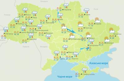 Короткочасний дощ, гроза: погода на Буковині 31 липня