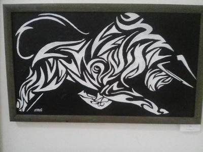 «Емоції виражаю на полотні»: художниця з Чернівців презентувала виставку картин у стилі «Трайбл»