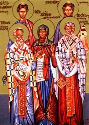 10 серпня за церковним календарем - апостолів вiд 70-ти: Прохора, Никанора, Тимона i Пармена дияконiв