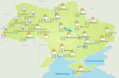 Спека: погода на Буковині