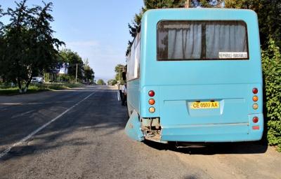 На Буковині легковик на «євробляхах» врізався в автобус, який пригальмував - фото