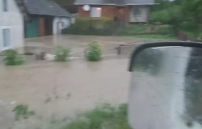 Вода по вікна: на Прикарпатті злива затопила декілька сіл - відео