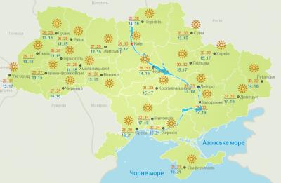 Спека продовжується: погода на Буковині 3 вересня