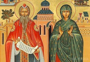 18 вересня за церковним календарем - пророка Захарiї і праведної Єлизавети