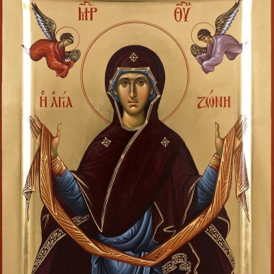 13 вересня за церковним календарем - покладення чесного пояса Пресвятої Богородицi