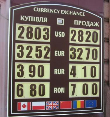 Курс валют у Чернівцях на 14 вересня
