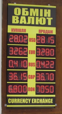 Курс валют у Чернівцях на 27 вересня