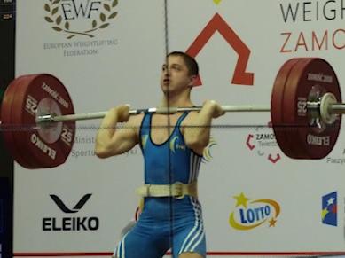 Спортсмен із Буковини став «бронзовим» призером Європи із важкої атлетики - відео