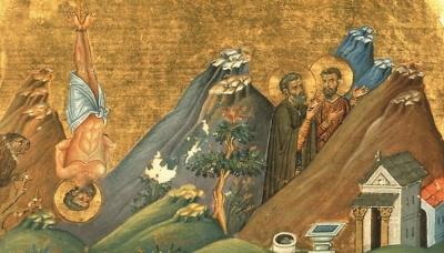 2 жовтня за церковним календарем - мучеників Трофима, Саватiя i Доримедонта