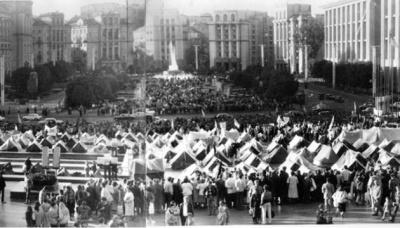 Порошенко подякував тим, хто 28 років тому зібрав перший Майдан