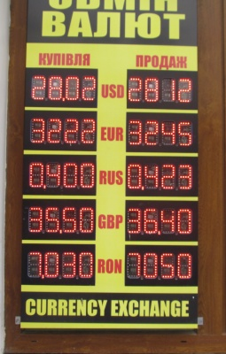 Курс валют у Чернівцях на 4 жовтня