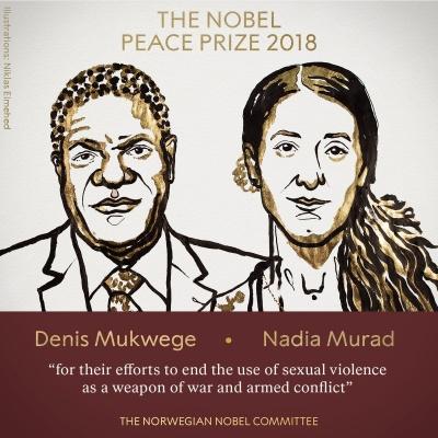 Нобелівську премію миру отримали гінеколог та правозахисниця