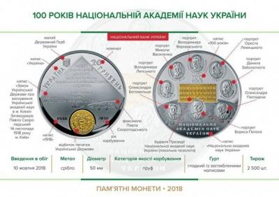 Нацбанк показав дві нові пам'ятні монети