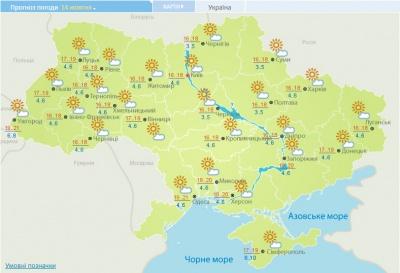 Україні прогнозують ще кілька теплих днів