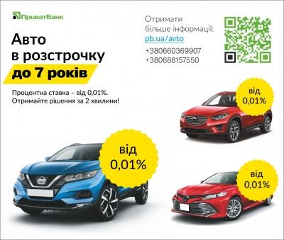 ПриватБанк збільшив термін кредитування на придбання нових автомобілів до 7 років (прес-реліз)