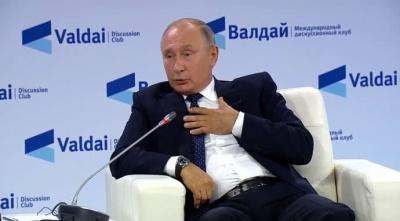 Путін переконує росіян, що з України вивезуть чернозем