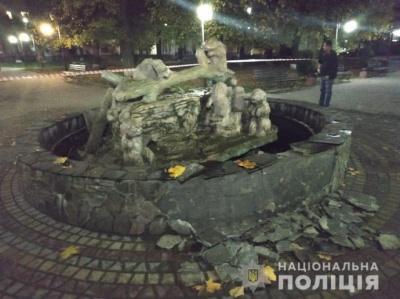 На Львівщині п'яний чоловік кинув у фонтан гранату