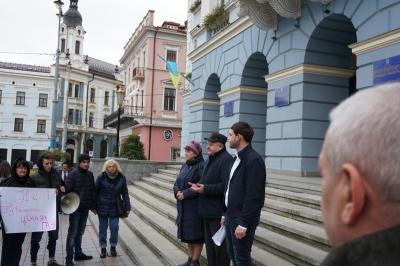 У Чернівцях на мітинг «Батьківщини» прийшло 20 людей - фото