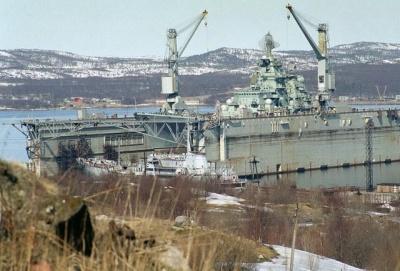 У Мурманську потонув плаваючий док. Пошкоджено єдиний в РФ авіаносний крейсер